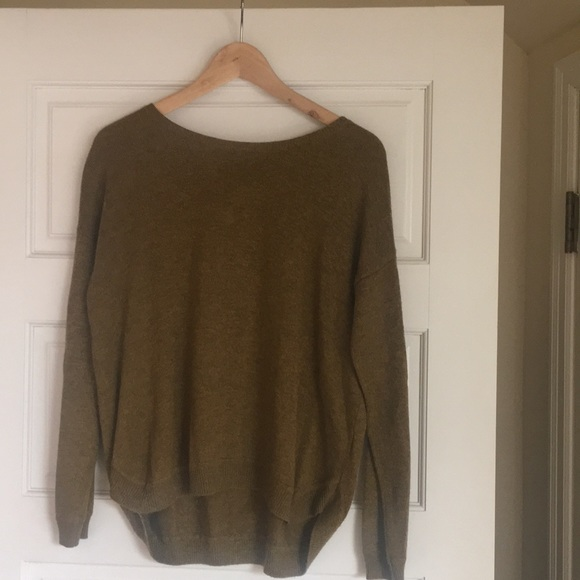 H&M Sweaters - Mustard Gold Zip-Back Sweater from H&M